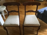 Two wood chairs RESTON