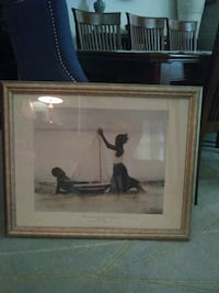 brown wooden framed painting of man and woman Middletown, 10940