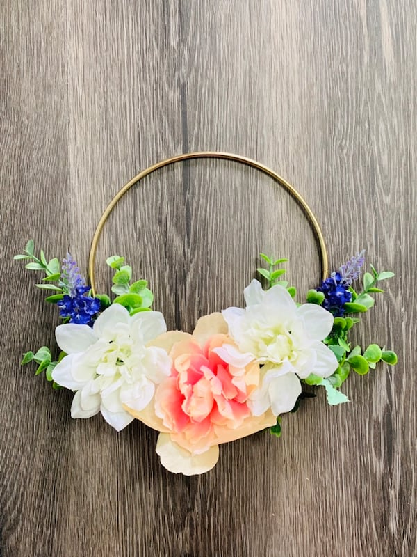 Signs and floral wreath 2
