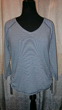 LADIES SIZE XL: Chaps Navy Blue/White Striped Top Virginia Beach, 23452