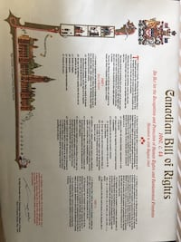 Canadian charter of rights freedoms and bill of rights posters
