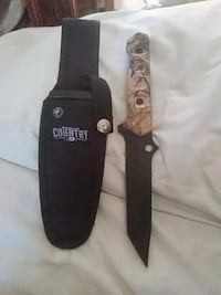 brown Country real tree camouflage knife and sheath Honolulu, 96815