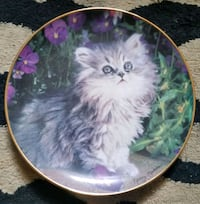 round white and purple floral ceramic plate Brooklyn, 11223