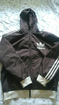 brown and white Adidas zip-up hoodie Livingston, EH54 8NE