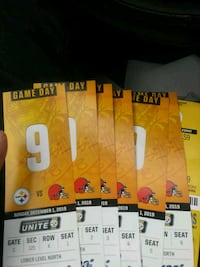 Steelers tickets browns 6 and parking