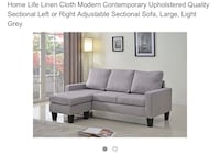 used small sectional gray