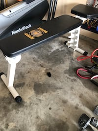Bench for free weight lifting