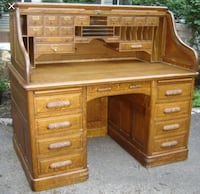 brown wooden roll-top desk Woodbridge, 22193