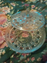 Vintage glass candy dish with matching lid Parkersburg, 26101