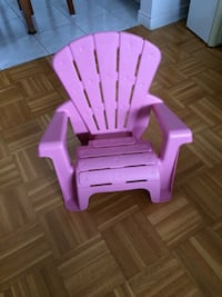 pink and purple plastic chairs
