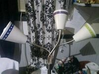 white and black floral floor lamp Sunset, 84015