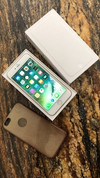 Unlocked gold 64gb iphone 6 plus with box and case
