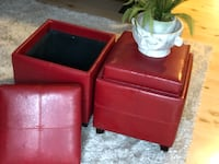 2 square re storage ottomans for only $40! Burlington