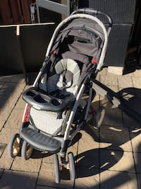 Baby's gray and black stroller - good condition with cover Montréal, H2G