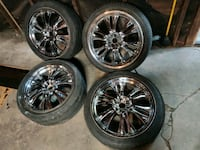 "4 22"" rims and 3 tires 500 Chicago, 60632"