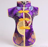 Chinese Handmade Classic Clothes Style Silk Wine Bottle Cover beauty