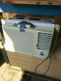 white and beige window type AC unit Toronto, M6A 1V4