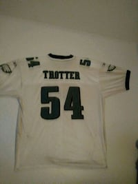 white and green Jeremiah Trotter game jersey shirt Elkton, 21921