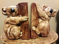 ANTIQUE CEREMIC KOALA BEAR BOOKENDS Anaheim, 92804
