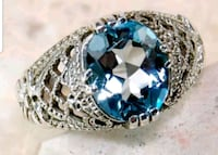 Genuine 2CT AQUAMARINE STONE in 925 Solid Sterling Pearl City, 96782