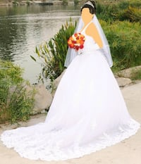 WEDDING DRESS.  White Color.  Size : 4 (36) Use  Los Angeles, 90035