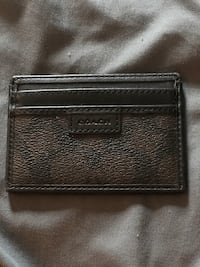 black leather bi-fold wallet Franklin, 46131