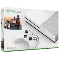 Xbox One S console with controller and game cases Silver Spring, 20910