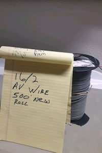 16/2. audio video wire 500 ft roll brand new Los Angeles, 91304
