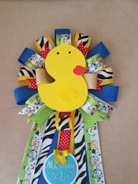 The farm animals baby shower corsage  Spring, 77389