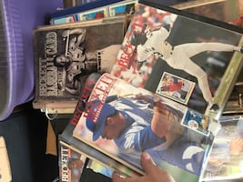 "I have 3 binders full of "" beckett"" baseball card price list"