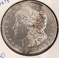 1879-S  with Reverse. Of  1878  Morgan Dollar Cottonwood, 96022