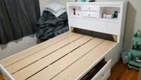 white wooden bed frame Chicago, 60645