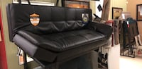 Black leather padded rolling chair Stockton, 95205