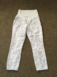 white and gray pants