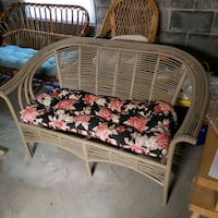 Wicker Chair and Bench with Cushions  Lancaster, 17601