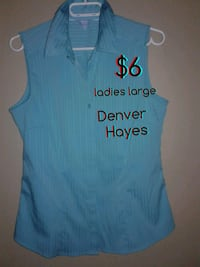 blue and white sleeveless top Calgary, T3B 0T3