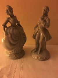 Blue antique figurines