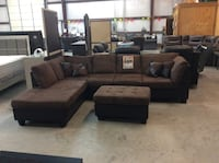 Abby sectional and free ottoman-50$$$$ down  Taylor, 76574