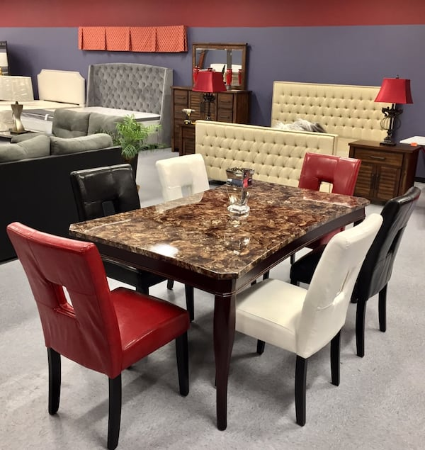 Traditions 6 Seater Dinning Room Set  (Mix & Match Chair Colors) fb09db5d-6161-40af-b48f-fb4d92543e3f