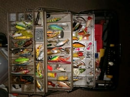 3 Fishing tackle boxes of lures