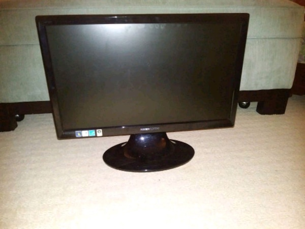 "Computer monitor, 20"" LCD with cables"