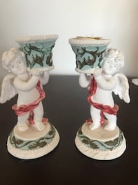 Angel candlestick holders (set of two). Angels of love from russ berrie and co. 5in high Berkeley Heights, 07922