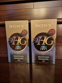 2x Sony ED HG T-120 VHS Brand New Tapes EP 6 hours Vancouver, V6L 2N1