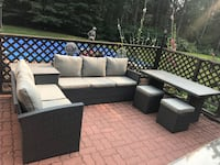 Patio lounge set with table and stools Beaumont, T4X 0G7