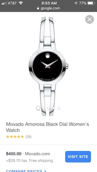 Women's watch - Movado Rockville, 20850