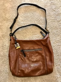 brown Fossil leather crossbody bag Rocky View No. 44