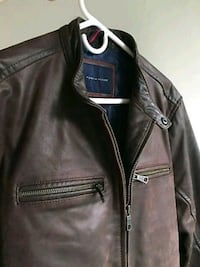 black leather zip-up jacket San Francisco, 94112