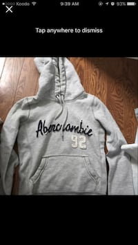 gray Abercrombie pull-over hoodie screenshot Toronto, M1K 0A4