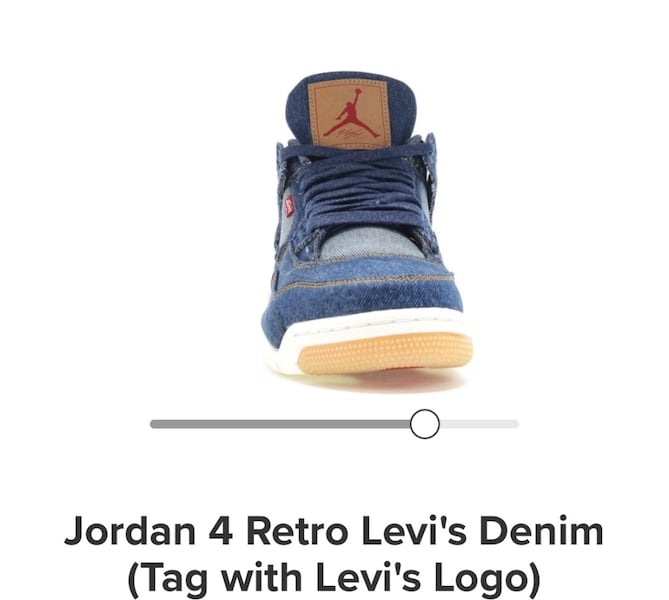Jordan4 Levi's with tag size10 0