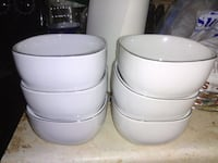 two white ceramic bowls and plates Edmonton, T5A 0T5